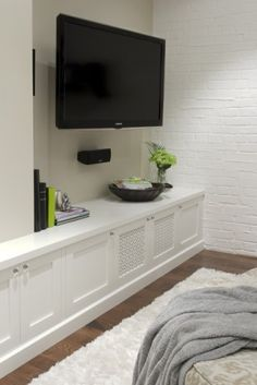 fantastic basement family room built in cabinet detail!! Would like this in my bedroom!! :)