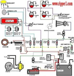 14 best mini chopper electrical wiring diagrams images electric Harley Davidson Wiring Diagram wiring diagram with accessory and ignition more motorcycle