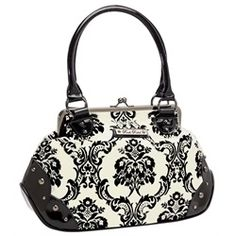 Gothic purse made with something that looks like toile.