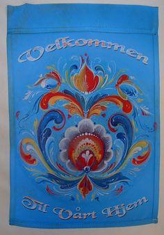 Garden Flag - Lise Lorentzen Rosemaling