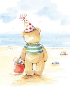 Lizzie Walkley - Bear At Beach