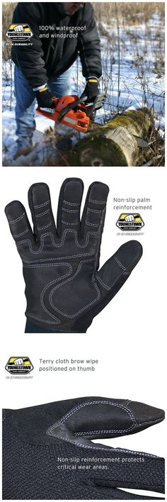 The Original Waterproof Winter Plus available up to size 40 grams of Thinsulate insulation that keeps your hands warm and dry! Best Work Gloves, Wet And Dry, Hand Warmers, Insulation, Snug Fit, Hands, Winter, Winter Time, Thermal Insulation