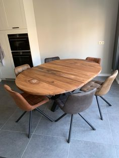 Oval Table, Dinning Table, Dining Chairs, Home And Living, Living Room, Industrial Style, House Design, Furniture, Home Decor