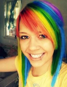 Rainbow Emo Hairstyles for Girls with Short Hair and Bangs Pictures - New Hairstyles, Haircuts & Hair Color Ideas