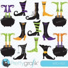 witch feet clipart commercial use, vector graphics, digital clip art, digital…