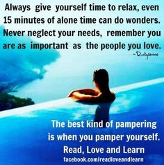 Time to relax quote via www.Facebook.com/ReadLoveandLearn