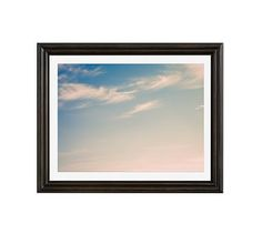 """Summer Sky by by Cindy Taylor, 20 x 16"""", Ridged Distressed, Black, Mat"""