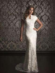 Allure Bridal Wedding Dresses   Allure Modest Wedding Dresses – Style M495   china wedding dress ...