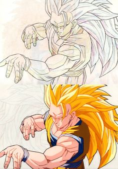 Goku Super Saiyan 3 by Shingo Ishikawa genga Dragon Ball Z, Animation Storyboard, Ssj3, Ball Drawing, Goku Super, Skullgirls, Cheer Pictures, Bike Art, Manga Drawing