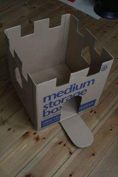 papel: caixa de papelão: castelo