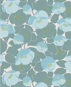 Field Poppies - ocean color way by Amy Butler