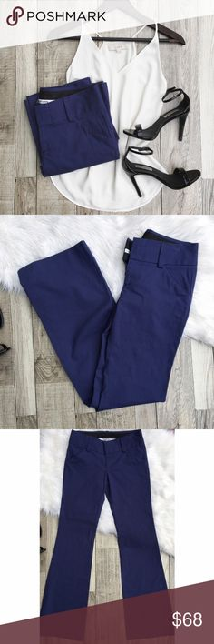 "Alice + Olivia Navy Blue Pants Alice + Olivia || Navy blue flare slacks. These are perfect to wear to the office. Gently worn, excellent condition.   •size: 2 •color: navy  Approx Measurements (laying flat):     •waist: 14""     •inseam: 34""  •no trades(comments politely ignored) •bundle to save Alice & Olivia Pants"