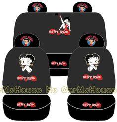 New Betty Boop Car Seat Covers Set 10pcs