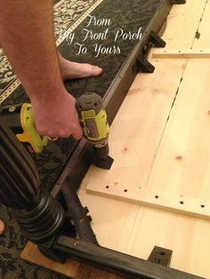 From My Front Porch To Yours: DIY Wood Plank Table Top - This is what I will be doing to my antique kitchen table now!!!