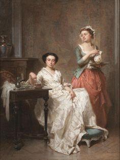 Antoine Emile Plassan (1817-1903) - The morning chocolate