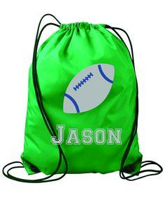 Items similar to Football personalized string bag- Kids drawstring bags,  gym bags, backpacks, , swimbag, sports bag. on Etsy b9bfc808e0