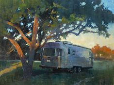 """One of my paintings for Plein Air Texas 2017. """"Guest House"""" (oil on linen, 18""""x24"""") depicts our new Airstream on a beautiful property in Christoval, Texas. #patricksaunders #patricksaundersfineart #patricksaundersfinearts #patsaunders #pleinairpainter #pleinairartist #pleinair #enpleinair #pleinairstreaming #saundersfinearts #myliverivetedlife #liveriveted #airstream #pleinairpainting"""