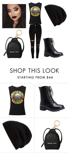 """""""Guns N' Roses Style"""" by sarah-jackson-viii ❤ liked on Polyvore featuring Miss Selfridge, Rick Owens and Michael Kors"""