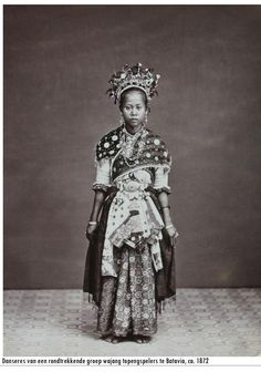 Indonesia ~ Dancer from Wayang Topeng players ~ Java, 1872