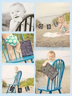 So cute for a first birthday picture session! I like the sign with his stats. Awhh