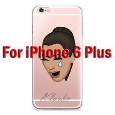 Funny Kim Kardashian Crying Face Emoji Case For iPhone 6 Plus 6s Plus Kimoji Clear Soft TPU Cell Phone Cases