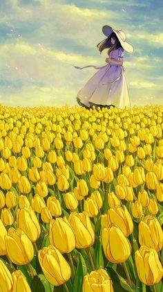 New Nature Girl Illustration Anime Art Ideas Art Manga, Anime Art Girl, Manga Anime, Anime Girls, Sky Anime, Mode Poster, Anime Scenery, Animes Wallpapers, Anime Artwork