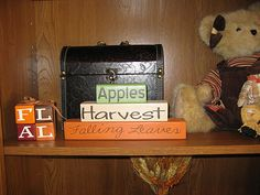 fall wood crafts | Crafted with love by Vicki Johnson Hansen at 12:25 AM