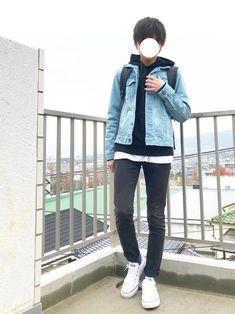 シンプルってベストじゃないですか?(*´ー`*) ☃️デニムジャケット×パーカー☃️ 今日は青が着た