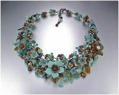 Image result for beaded flowers jelwery