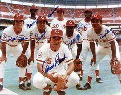 The Big Red Machine, Cincinnati Reds, 1976 Johnny Bench, Pete Rose, Joe Morgan… Pete Rose, Cincinatti, Ken Griffey Sr, Baseball Players, Baseball Cards, Baseball Stuff, Sports Baseball, Football, Baseball Wall