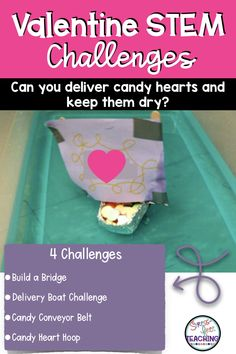 Engage your class with 4 Valentine's Day themed STEM challenges.