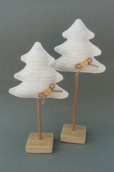 Crochet - Inspiration, tree, haken, boom, kerstboom, decoratie