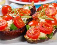 Aubergines farcies tomates-mozzarella