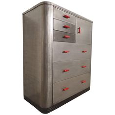 Simmons Tall Dresser by Norman Bel Geddes | See more antique and modern Dressers at http://www.1stdibs.com/furniture/storage-case-pieces/dressers