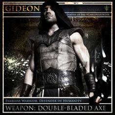 Jai Courtney is Gideon, leader of the Gargoyle Order in the I Frankenstein movie. Original pic source: http://pbs.twimg.com/media/BeTb3VGCYAA4avJ.jpg