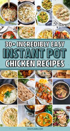 34 Best Instant Pot Chicken Recipe Ideas For 2020 - Crazy Laura Crockpot Recipes, Soup Recipes, Chicken Recipes, Cooking Recipes, Instant Pot Pressure Cooker, Pressure Cooker Recipes, Instant Cooker, Pressure Cooking, Dump Meals
