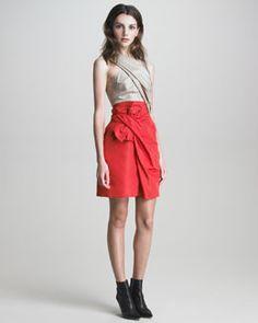 3.1 Phillip Lim Colorblock Taffeta Bow-Front Dress