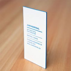 Letterpress business cards from designer Juan Madrigal. Letterpress Business Cards, Business Logo, Business Card Design, Creative Business, Graphic Design Flyer, Branding Design, Design Visual, Visiting Card Design, Name Card Design