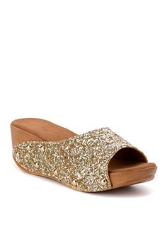 Bruno Manetti Women Gold (3064) Faux Leather Wedges-41 Cheap Sandals, Leather Wedges, Platform, Heels, Gold, Women, Fashion, Heel, Moda