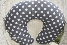 Gray Dots with Gray Minky Boppy Cover. $25.00, via Etsy.