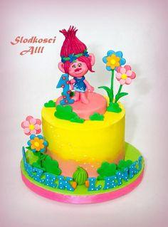 Poppy Troll Cake - cake by Alll Trolls Birthday Party, Baby Birthday Cakes, Troll Party, Birthday Parties, Fig Cake, Cake Mold, Savoury Cake, Mini Cakes, Cake Smash