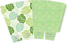Folhas – Kit Completo com molduras para convites, rótulos para guloseimas, lembrancinhas e imagens! |Fazendo a Nossa Festa