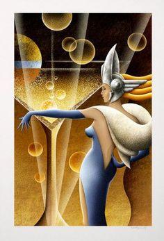 """Creating a Stir"" by M. Kungl (art deco)"