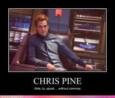 I <3 Chris Pine as Kirk