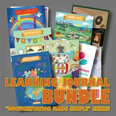Our Journal Bundle is made up of 5 individual group journals. Each of these is a large-size (A3) scrapbook for you to add the children's artwork, observations, or any other relevant materials on the theme of that journal. For each of the group journals we also include a curriculum plan pack on that theme to help give you ideas to start the children's exploration of these areas. Remember that you always need to be responsive to the children's emerging interests in your ongoing curriculum…