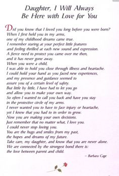 Poem From Mom To Daughter On Wedding Day - Free Large Images ...