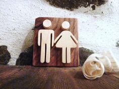 Wooden sign bathroom sign restroom sign rustic sign wooden