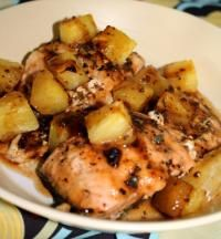 Pineapple Balsalmic Salmon