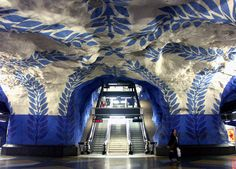 T-Centralen underground metro station in Stockholm, Sweden. Photo by Bim Bom, via Flickr.