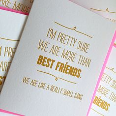 Best Friend Card - Best Friend Birthday Card - We are like a really small gang…